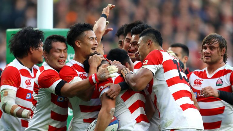 Japan pushed Jones' England when the two sides met at Twickenham in November