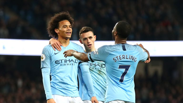Leroy Sane scored one and assisted another as Manchester City thrashed Southampton 6-1 on Sunday