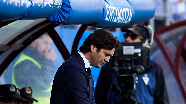 Santiago Solari's Real were easily beaten on his first game in permanent charge