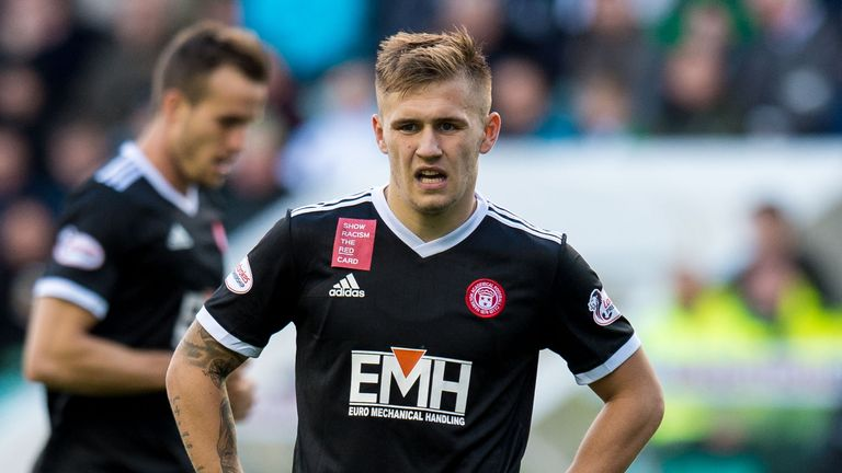 Scott Martin has made eight first-team appearances for Hamilton since joining from Hibernian in the summer