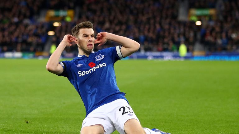 Seamus Coleman netted his first goal since January 2017