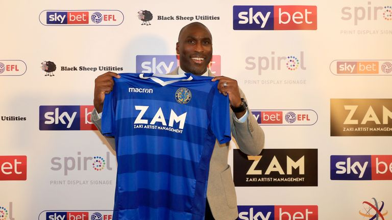 Sol Campbell was appointed as the Macclesfield Town manager last week.