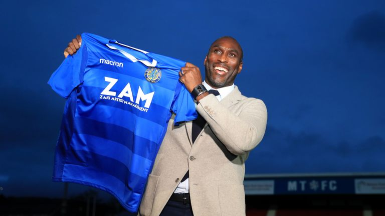 Sol Campbell has become the eighth BAME manager in league football