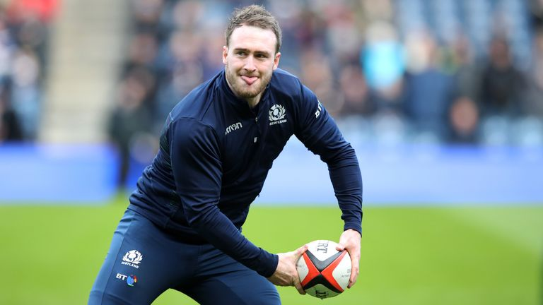 Stuart Hogg, Tommy Seymour and Blair Kinghorn will form Scotland's back-three against Italy