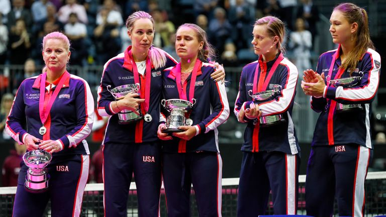 The United States team fielded three Fed Cup newcomers