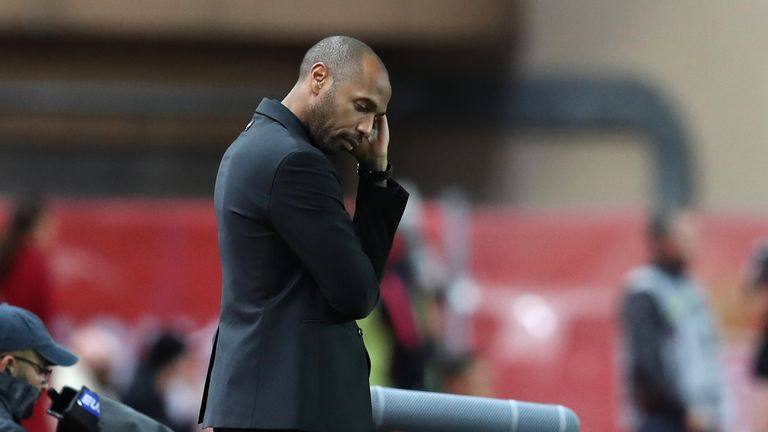 Henry was sacked after just 103 days at Monaco