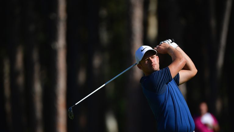 Tom Lewis surged into contention as he birdied the first five holes
