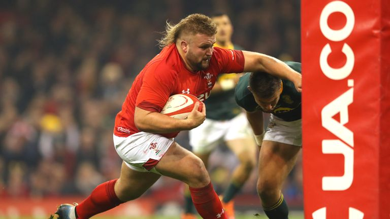 Prop Tomas Francis scored the first try of the day after 10 minutes - his first for Wales