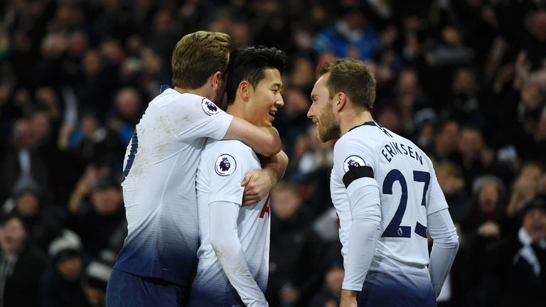 Heung-Min Son scored for Tottenham in their win against Chelsea