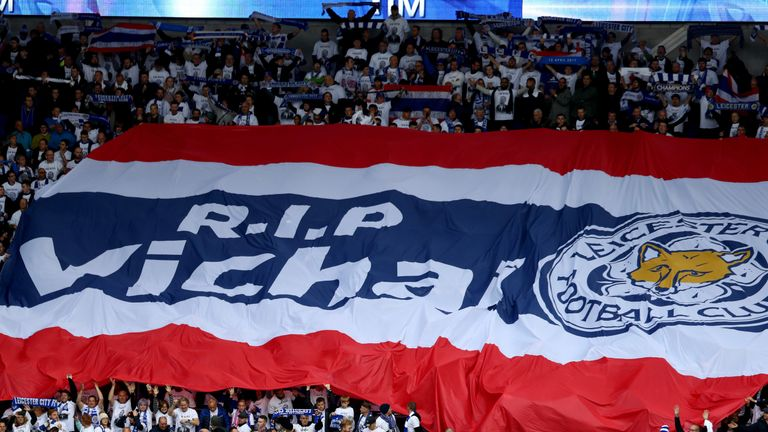 A Thai flag was carried around the Cardiff City Stadium before last Saturday's kick-off