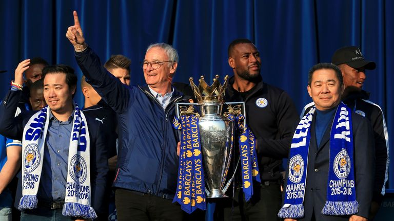 Ranieri famously won the Premier League with Leicester in 2016