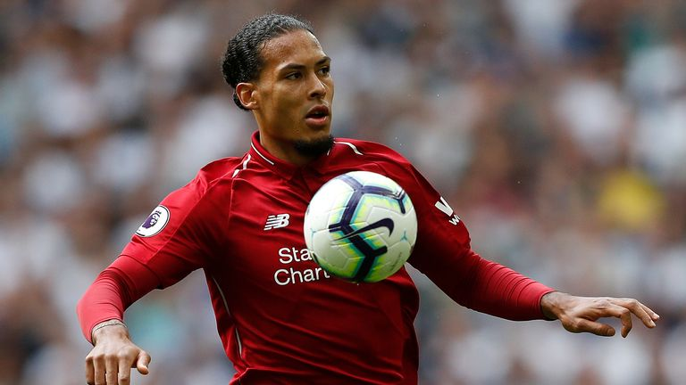 Van Dijk won the accolade ahead of team-mate Mohamed Salah