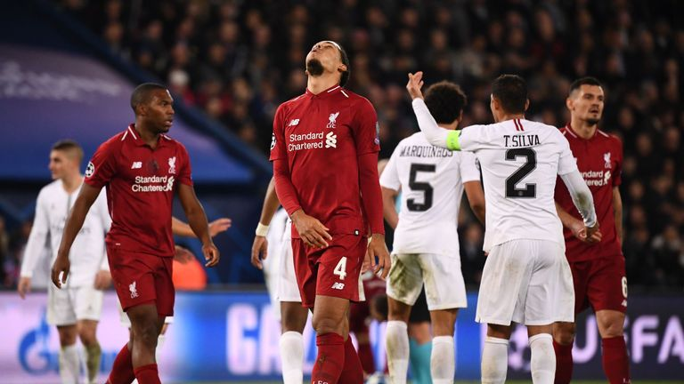 The Reds must beat Napoli to progress after losing 2-1 to Paris Saint-Germain