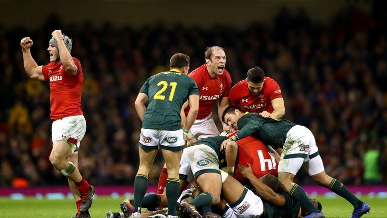 Alun Wyn Jones roared for Wales against the Springboks