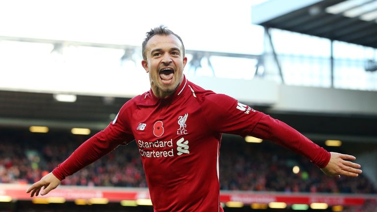 Shaqiri was at his best against Fulham