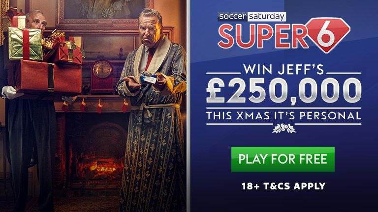 Play Soccer Saturday Super 6 to win £250k