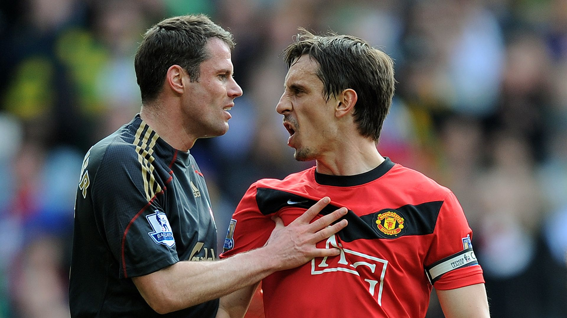 Football room-mates - Carra, Nev and more