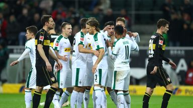 Borussia Monchengladbach jumped back up to second place in the Bundesliga