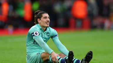 fifa live scores -                               Arsenal's Bellerin out for 'weeks'