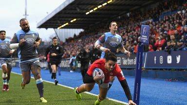 Sean Maitland opened the scoring for Saracens early in the first half