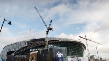 fifa live scores -                               Spurs fans take look at new stadium