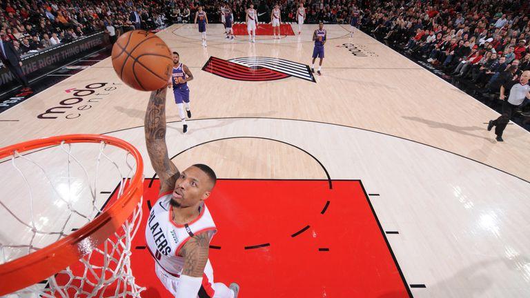 Damian Lillard scores 15 first-quarter points as Portland Trail Blazers hammer Phoenix Suns | NBA News |