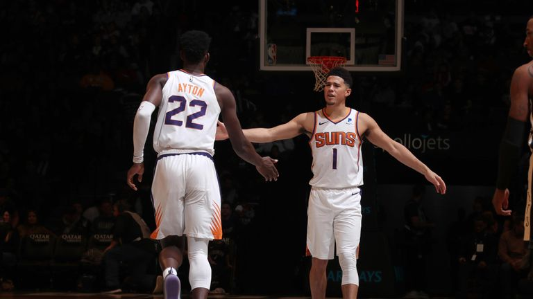 Devin Booker and Deand Ayton