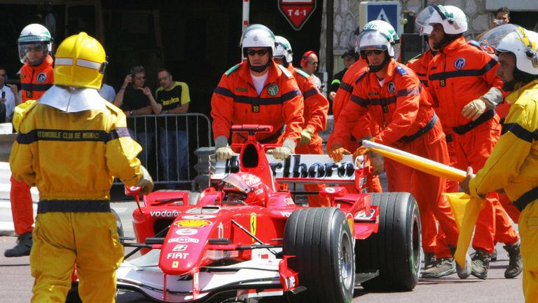 A major scandal. Schumacher had provisional pole in qualifying, but with Alonso on a faster lap, he 'locked up' and parked his Ferrari at Rascasse, denying all drivers their final laps. Schumacher protested his innocence but was stripped of his pole.