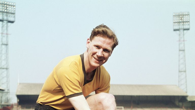 Bill Slater captained Wolves to FA Cup glory in 1960