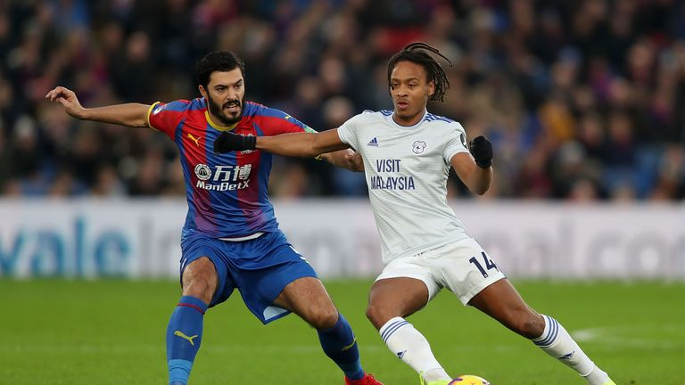 Bobby Reid and James Tomkins in action