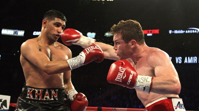 Khan lost to Alvarez in Las Vegas in 2016