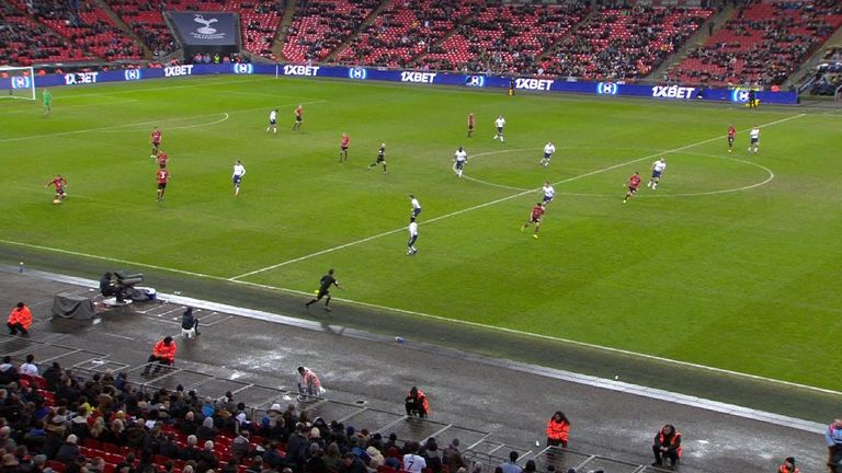Charlie Austin (centre of the pitch) looked to be offside for Southampton's late goal