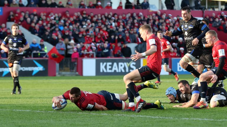 CJ Stander notched Munster's second try of the day after 68 minutes
