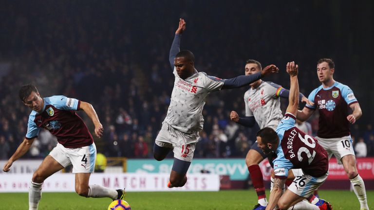 Daniel Sturridge is tackled by Phil Bardsley