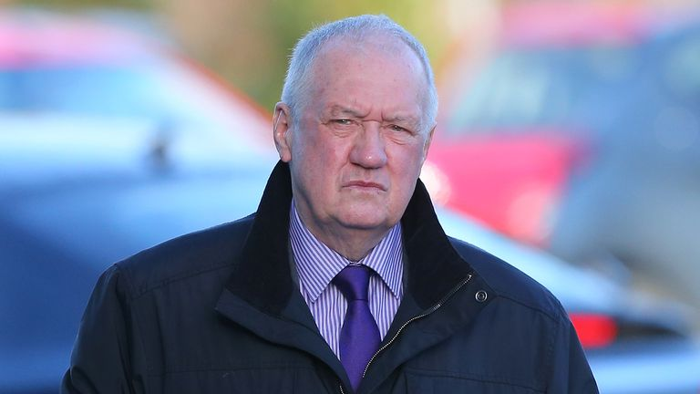 Former South Yorkshire Police Chief David Duckenfield arrives to give evidence at the Hillsborough Inquest