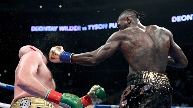 Wilder floored Fury dramatically in the 12th round