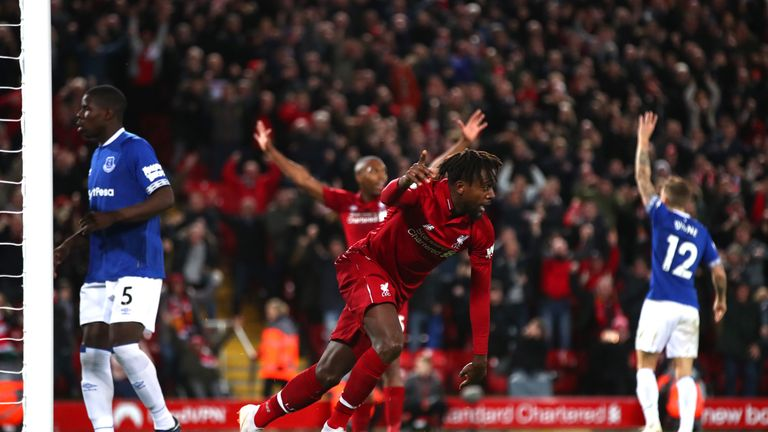 Origi has been given just 87 minutes of Premier League game time this season