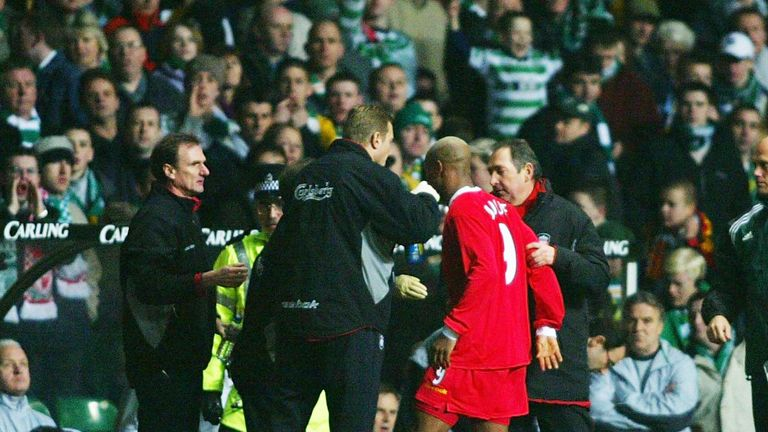 Diouf spat at Celtic fans during a UEFA Cup tie