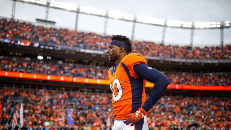 Emmanuel Sanders will miss the rest of the season for the Denver Broncos