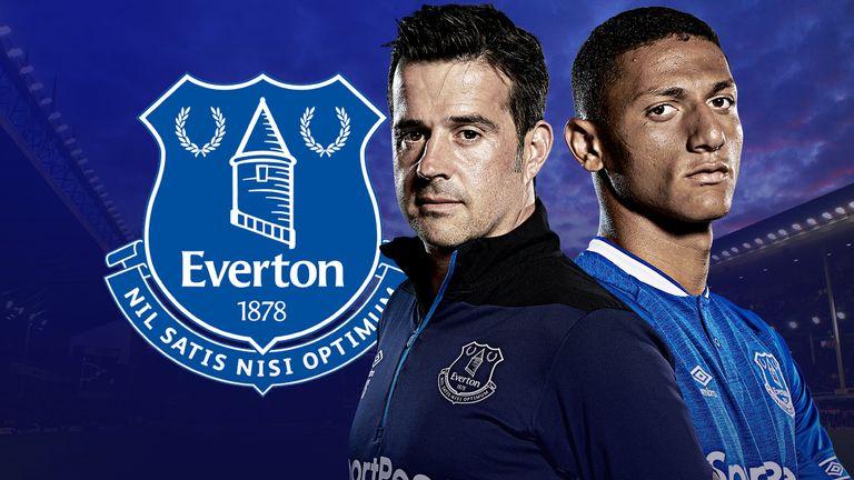 Marco Silva and Richarlison have been reunited at Everton