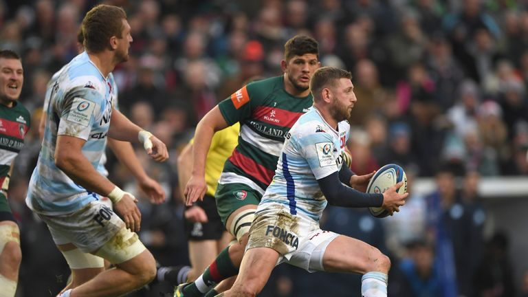 Finn Russell probes the Leicester defence