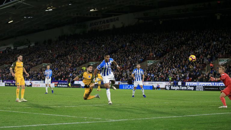 Florin Andone scored his first goal for Brighton to seal victory