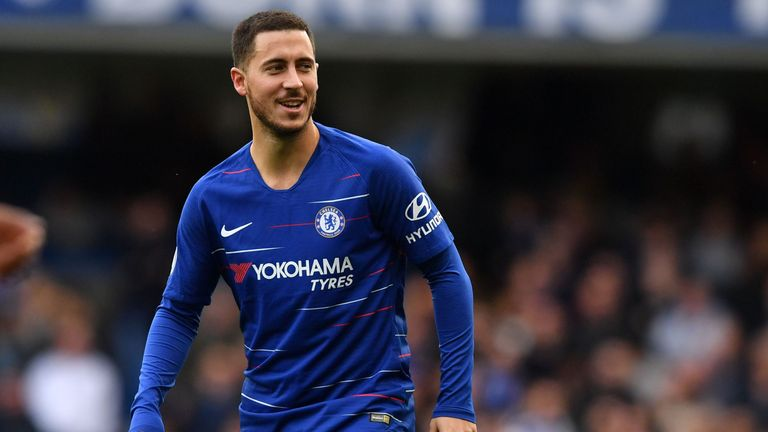 Chelsea's Eden Hazard could play as a false No 9 against Leicester