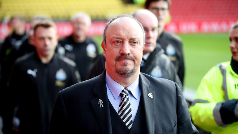 Newcastle manager Rafael Benitez has seen his team drop into the relegation zone