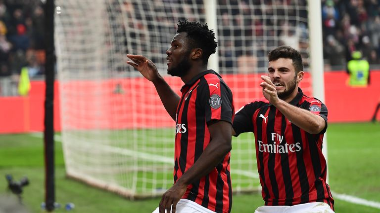 Franck Kessie's penalty put Milan fourth