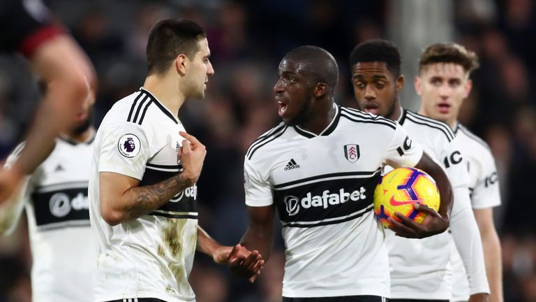 Fulham are four points adrift of safety in the Premier League