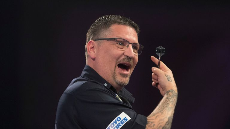 Gary Anderson has been undergoing treatment on his back since the World Darts Championship