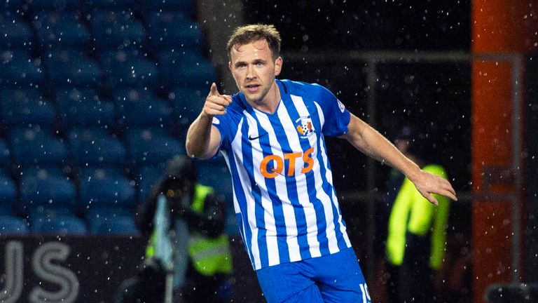 Kilmarnock beat Dundee to move top of the Premiership on Saturday