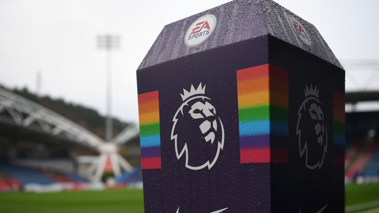 Huddersfield have said they will issue banning orders to fans found to have partaken in homophobic chanting during the home match against Brighton