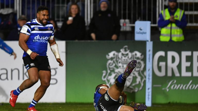 Joe Cokanasiga earned a late draw for Bath at the Rec on Sunday